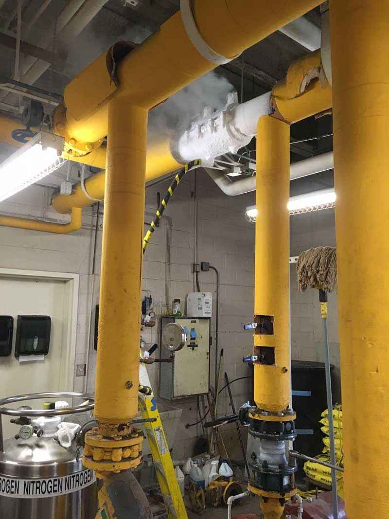 "6"" FreezePlug on Sch. 40 Steel Water Line – Approx 50 psi"