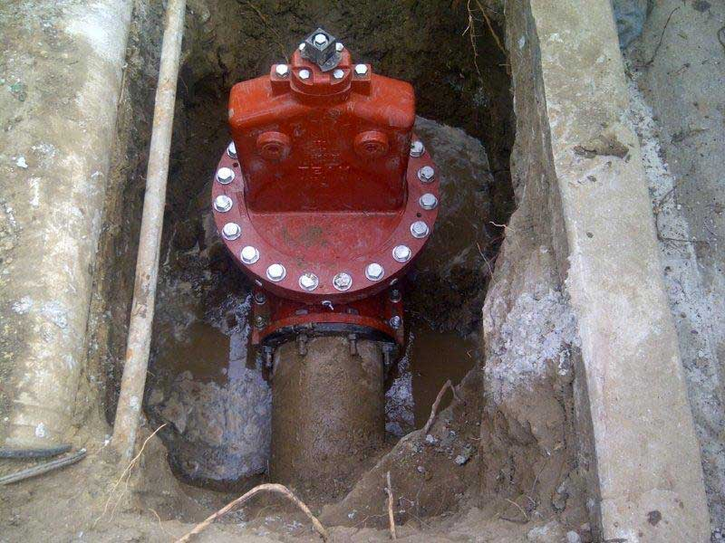 "12"" Insert Valve is successfully installed in Santa Ana, California"
