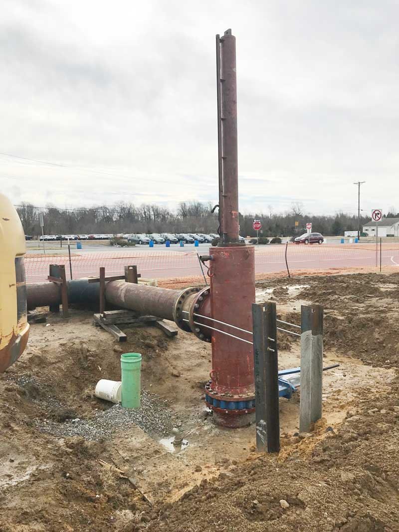 """Dual 30"""" Linestop stopples and the 20"""" bypass on a PCCP water main in Dover, Delaware"""