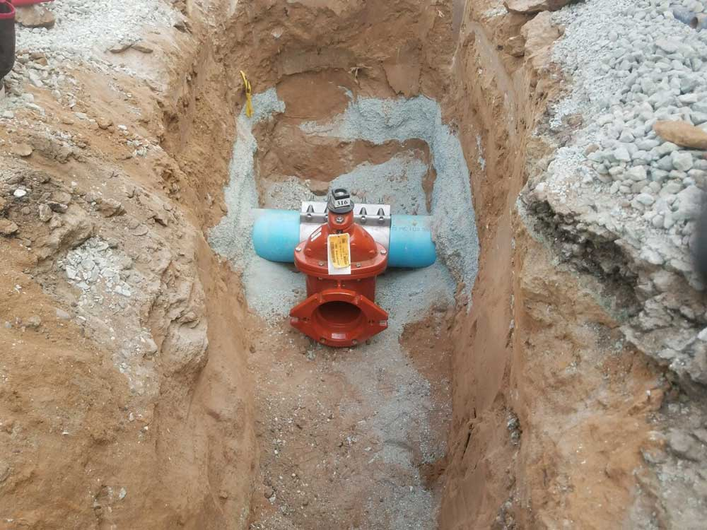 "Valve on Fitting ready for a 6"" Hot tap on 8"" C900 Pipeline at Coronado Island, CA"