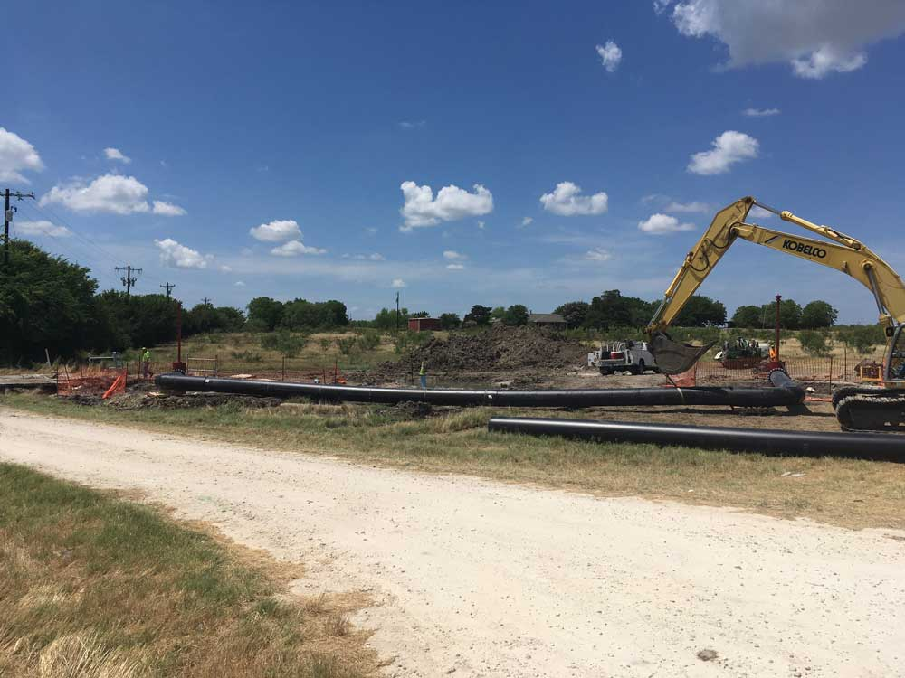 """2-  30"""" Linestops on PCCP Water Main with By Pass in Corsicana, Texas"""