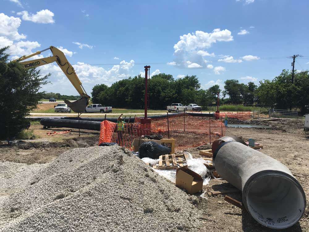 """2-  30"""" Linestops on PCCP Water Main with By Pass Construction in Corsicana, Texas"""