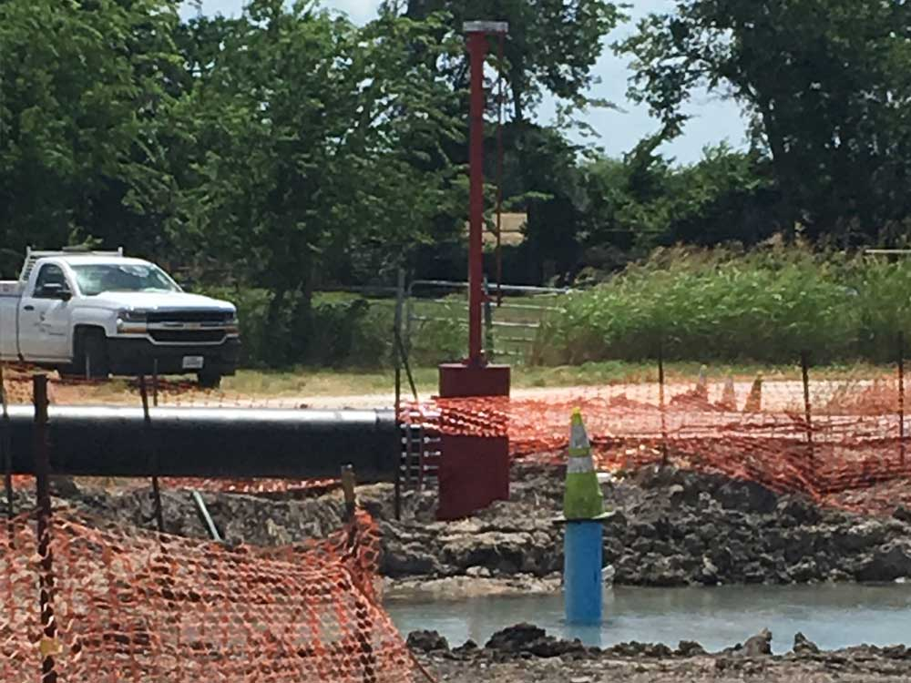 """2-  30"""" Stopples on PCCP Water Main with By Pass Construction in Corsicana, Texas"""