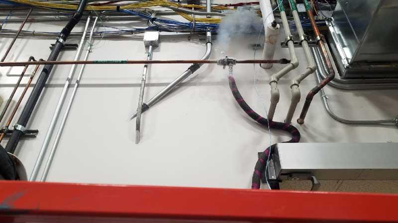 "Orlando, Florida- 2-2"" Pipe Freeze Plug Services using Liquid Nitrogen Cryogenics on Copper Pipeline"