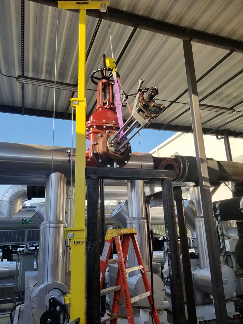 """8"""" Hottap for a 14"""" Linestop on Chilled Water in Tampa, Florida."""