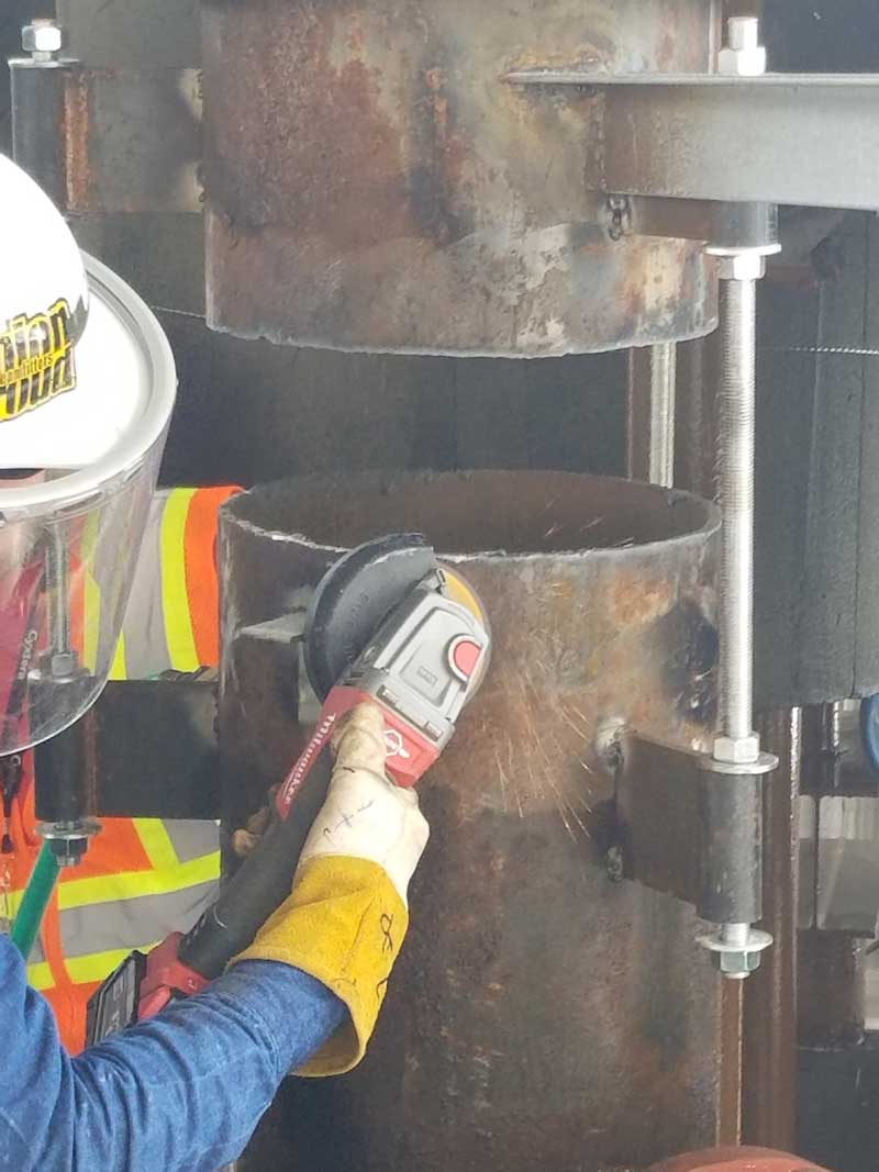 """Prepping a 14"""" Pipe For Valve Installation"""