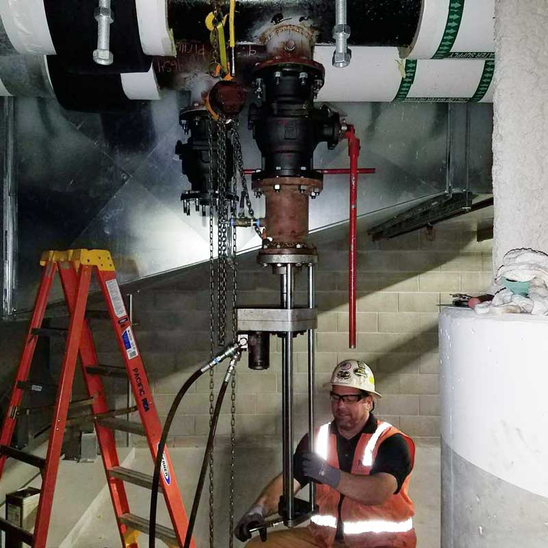 "Pacific Rim Mech 6"" Hottap on Hot and Cold Water Pipeline at Facility Illumina San Diego"