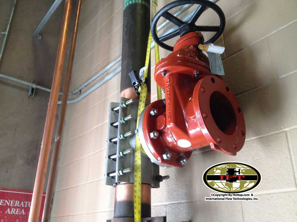 6inch Copper Pipe Hottap Services with a Full port Gate Valve