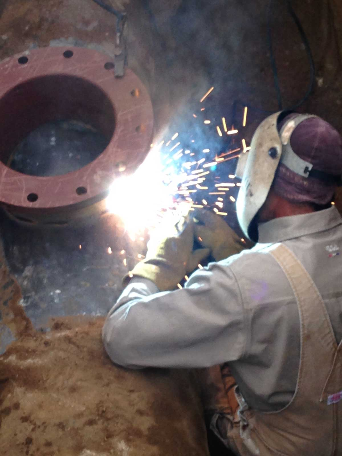Another angle of the art of Welding