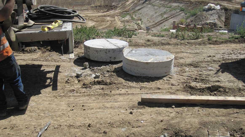 Dual 12 x 48 inch Concrete Slugs