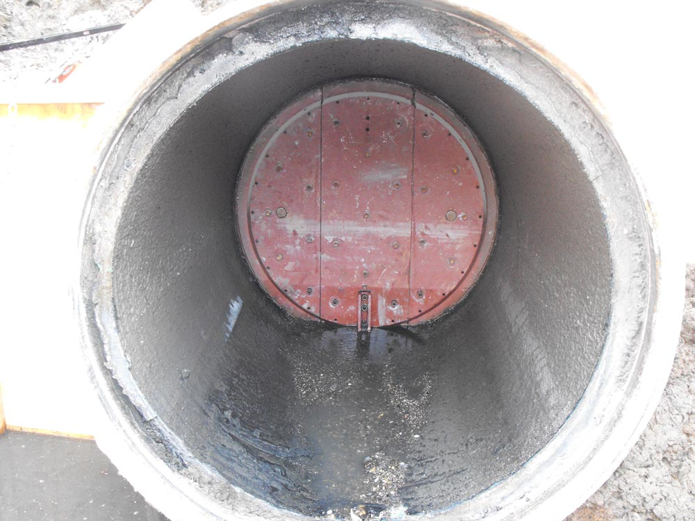 36inch Folding Head at Point of Pipe Detachment for Modifications