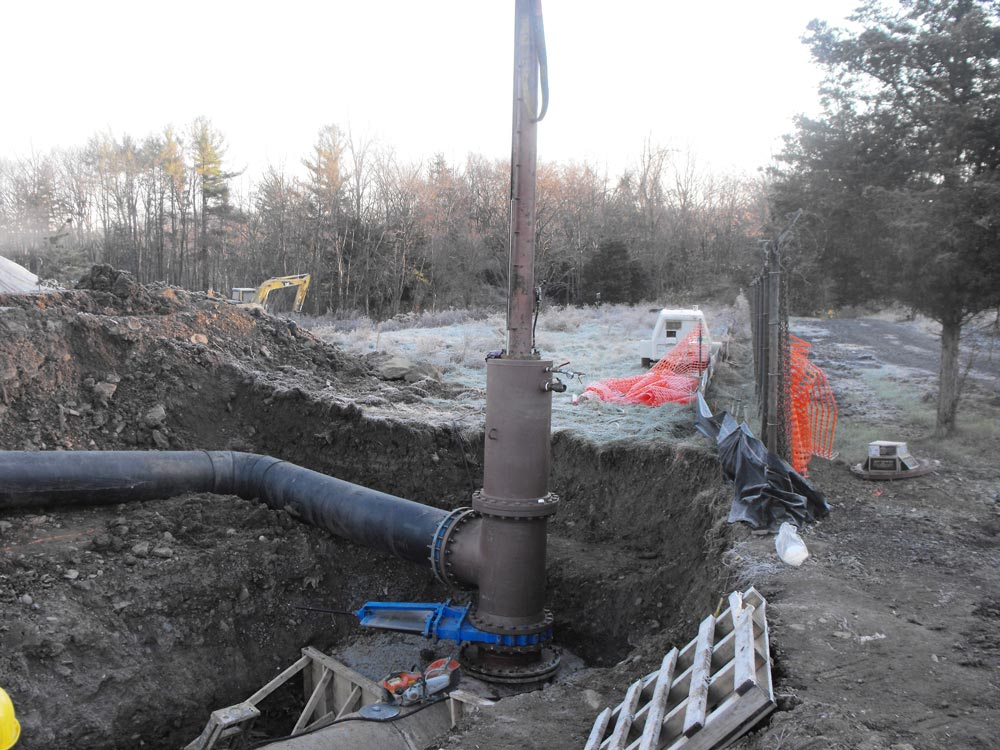 36inch Linestop with 24inch Bypass on PCCP Pipe