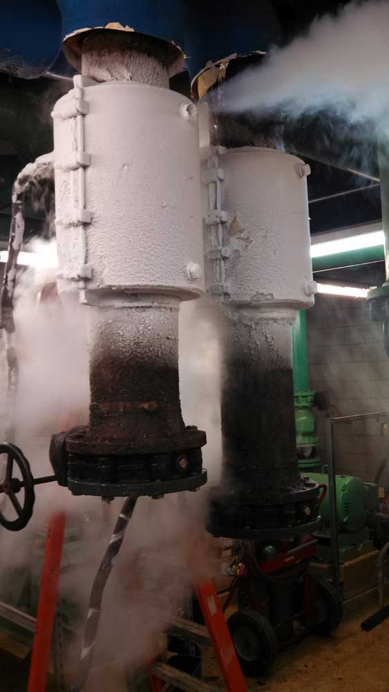 8inch Pipe Freeze Plug Services on Carbon Steel Chilled Water Pipe