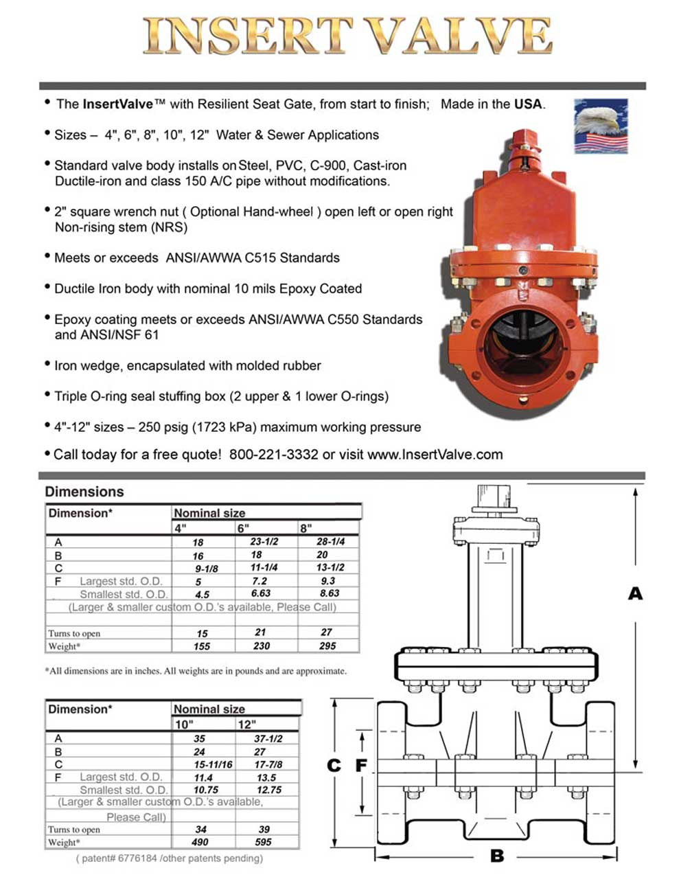 Team Insert Valve Cut Sheet