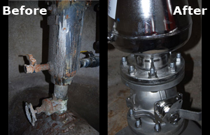 Dutch Finger Live Air Valve Replacement Installation Before and After